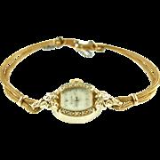 Vintage Ladies 14K Elgin Diamond Watch