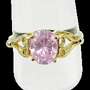 Vintage 10K Pink Ice CZ Ring