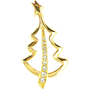 Vintage New View Stylized Christmas Tree Pin