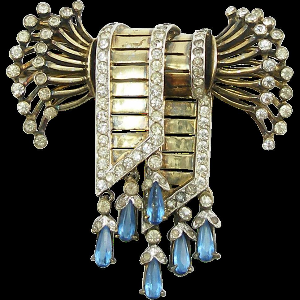 Vintage Designer Ralph DeRosa Sterling Bow Pin