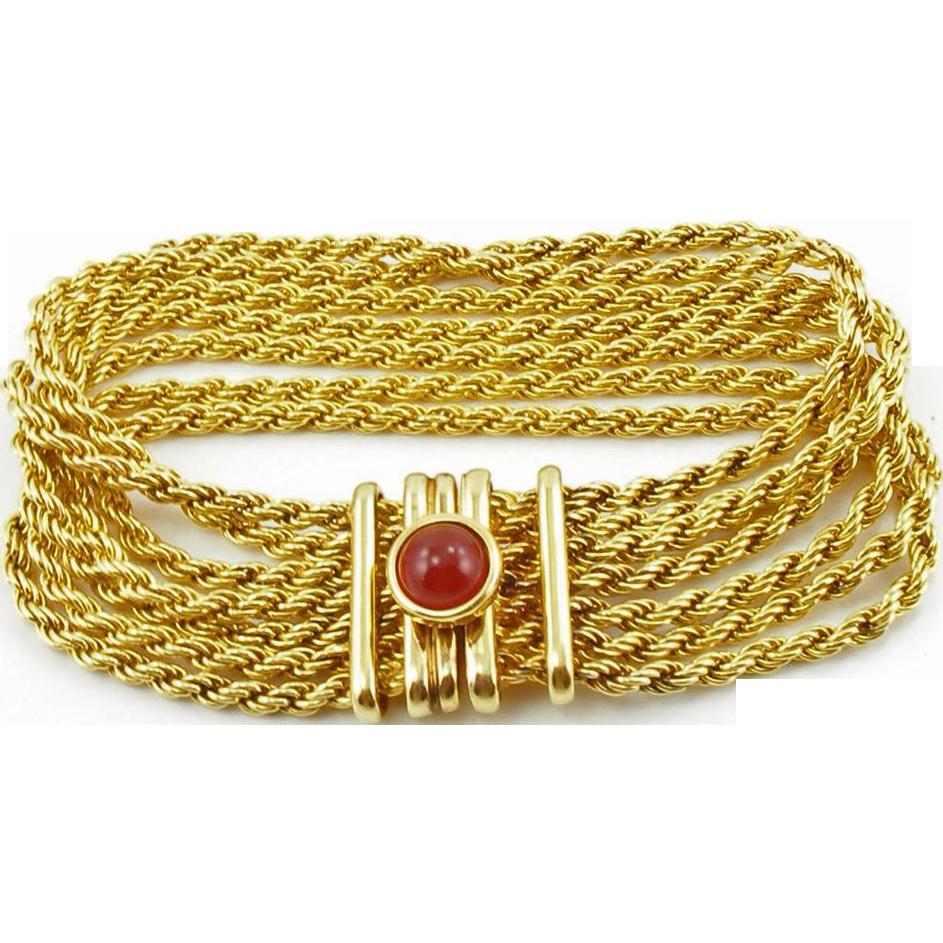 Vintage Italy Gold Plated 925 Bracelet