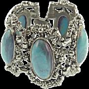Unsigned Vintage Faux Turquoise Bracelet