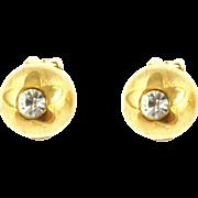 Vintage Guy LaRoche Paris Domed Earrings