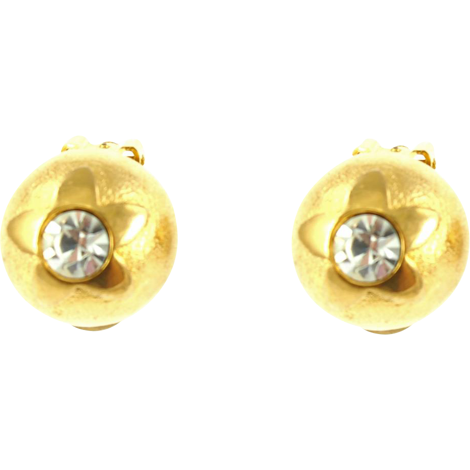 Vintage Guy LaRoche Paris Domed Earrings