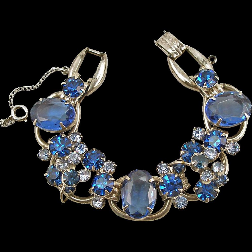 DeLizza & Elster Jewelry Sapphire Rhinestone Juliana Bracelet