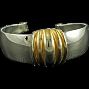 Vintage Two Tone Napier Cuff Bracelet