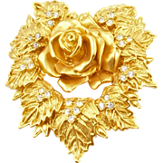 Vintage Elizabeth Taylor for Avon Passion Flower Brooch