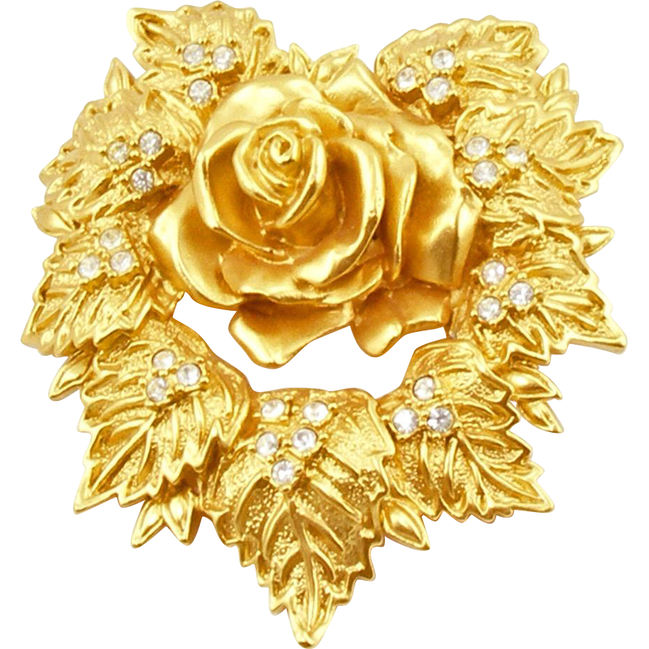 Vintage Elizabeth Taylor for Avon Passion Flower Brooch