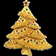 Vintage Jonette Jewelry Co. (J.J.) Christmas Tree Pin Book Piece