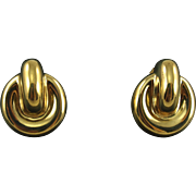 Signed Givenchy Faux Doorknocker Pierced Earrings