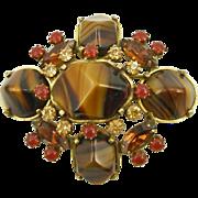 Vintage Designer Original by Robert Art Glass Pin