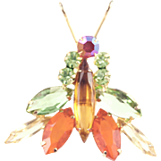 Vintage Delizza & Elster Juliana Winged Insect Pin