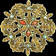Vintage Emmons Large Ornate Pin or Pendant