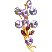 Unsigned Rivoli Bouquet Pin