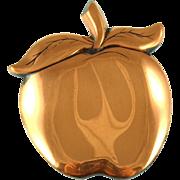 Vintage Unsigned Copper Apple Pendant