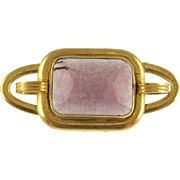 Vintage Art Deco Faux Amethyst Pin