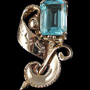 Vintage Reja Sterling Floral Pin