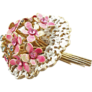 Vintage Signed Hattie Carnegie Flower Bouquet Brooch