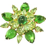 Vintage Weiss Shades of Green Pin