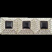 Vintage Cadoro Large Rhinestone Bar Pin
