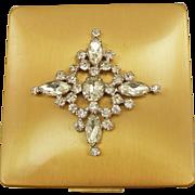 Vintage Elgin American Jeweled Compact