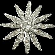Vintage Derosa Sterling Starburst Pin