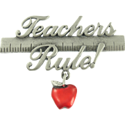 Vintage JJ Teachers Pin
