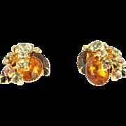 Vintage Beau Jewels Floral Earrings