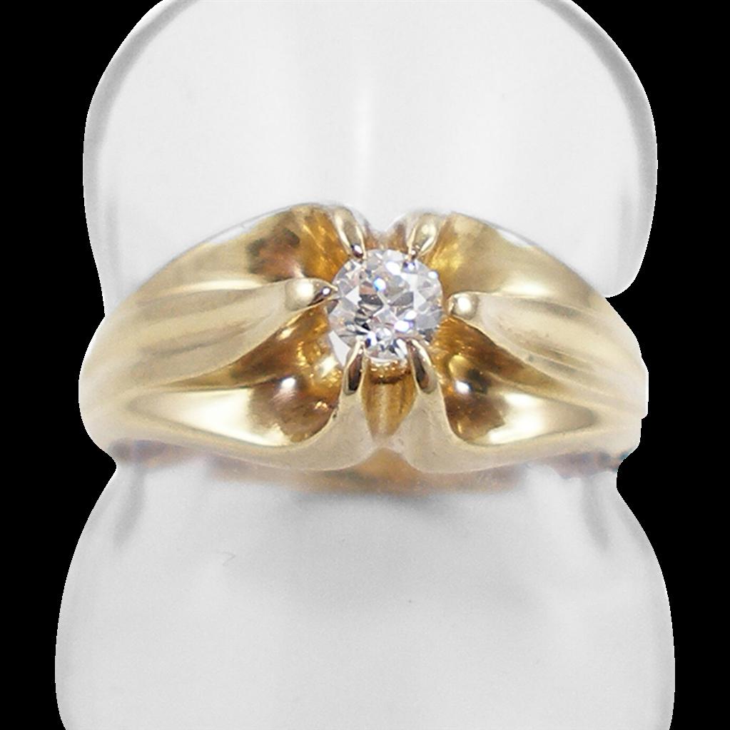 Vintage 14K Ladies White Sapphire Ring