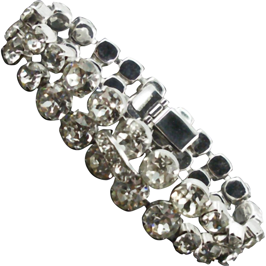 Vintage Eisenberg Crystal Rhinestone Bracelet