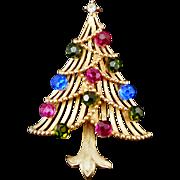 Vintage Costume Jewelry Trifari Christmas tree pin