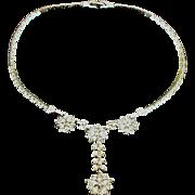 Vintage Signed Pennino Rhinestone Necklace