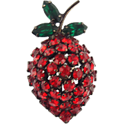 Vintage Unsigned Warner Strawberry Pin