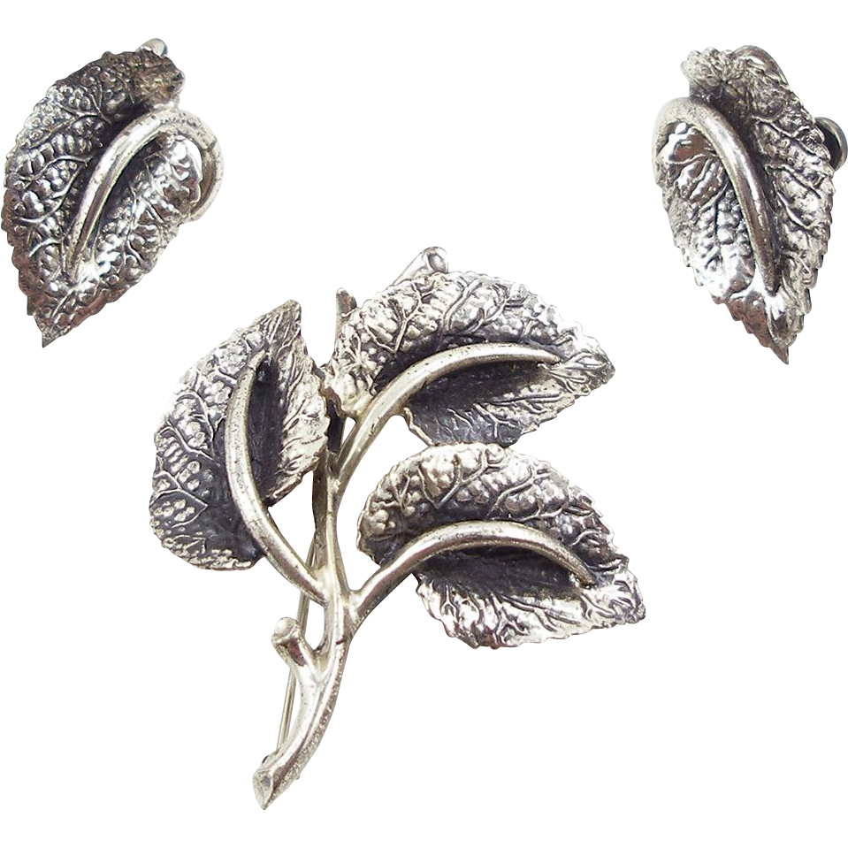 Vintage Danecraft Sterling Leaf Set