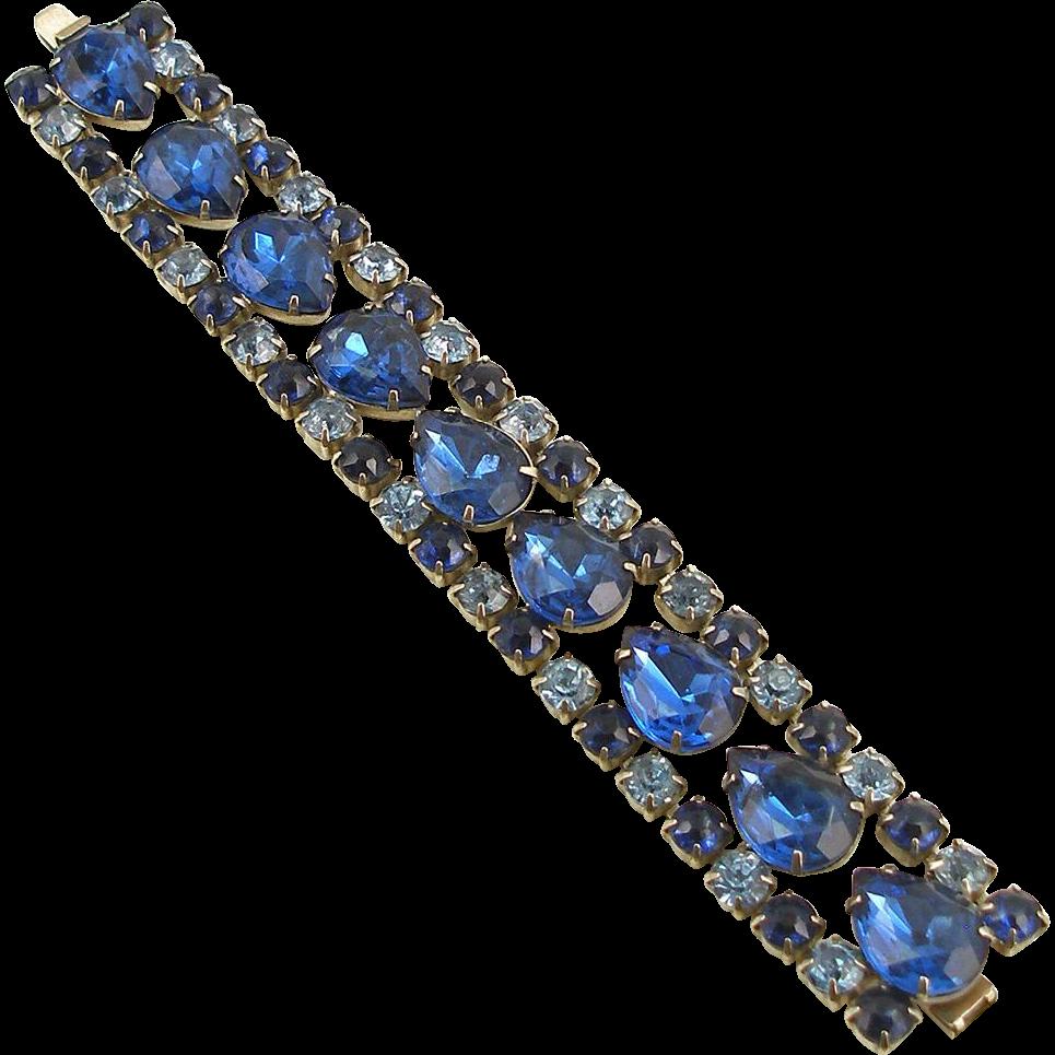Vintage Faux Sapphire Bracelet
