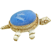 Vintage Florenza Nodder Head Turtle Pin Cushion
