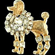 Vintage Unsigned Standard Poodle Pin