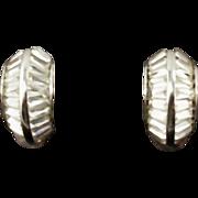 Vintage Designer Pennino Faux Diamond Earrings