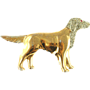 Vintage Golden Retriever Pin