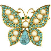 Vintage Signed Pauline Rader Butterfly Pin