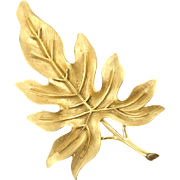Vintage Trifari Oak Leaf Pin