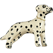 Vintage Erwin Pearl Dalmation Dog Pin