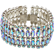 Unsigned Vintage Light Sapphire Aurora Borealis Bracelet