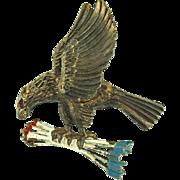 Vintage Eagle with Arrows Pin