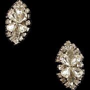 Vintage Crystal Rhinestone Clip Earrings