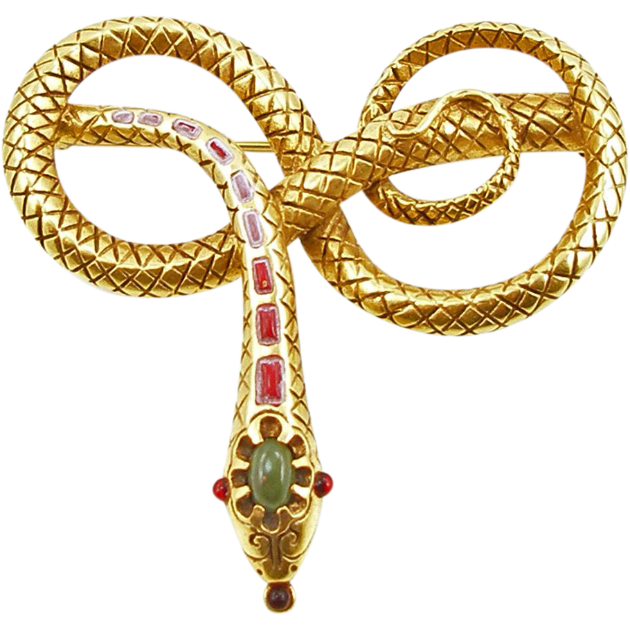 Vintage Costume MMA 1985 Snake or Serpent Pin