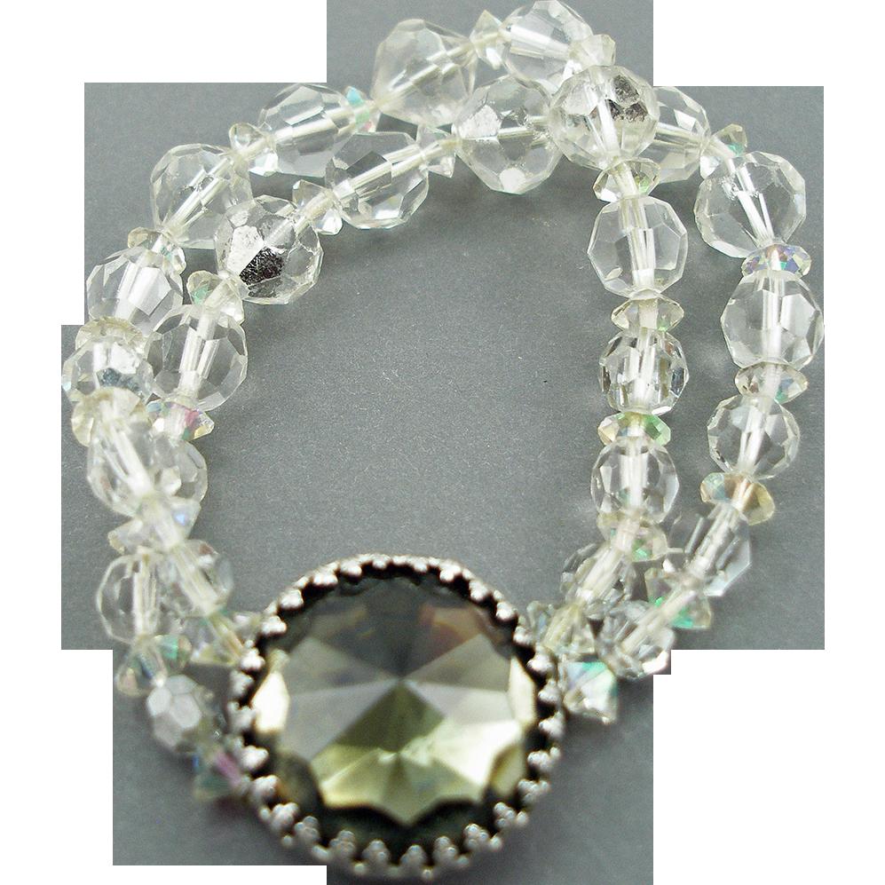 Vintage Signed Hattie Carnegie Crystal Bead Bracelet