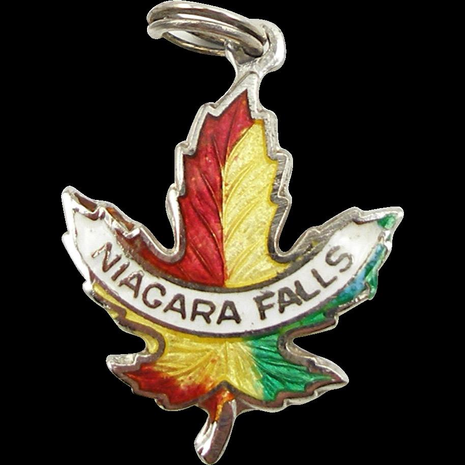 Vintage Sterling & Enamel Niagara Falls Charm