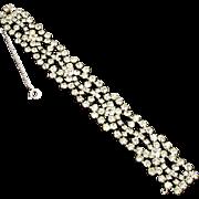 Vintage Unsigned Crystal Rhinestone Bracelet