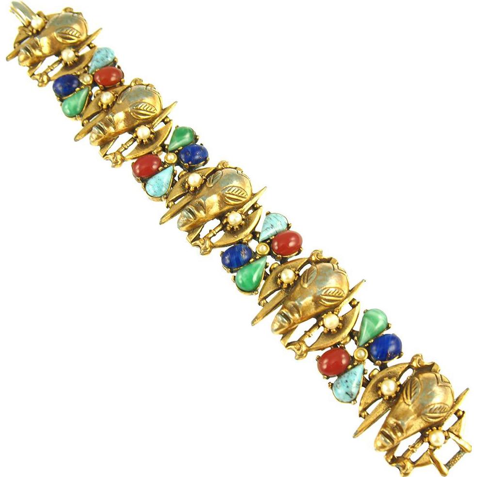 Vintage Signed Art Warrior Bracelet
